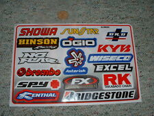 Decals / stickers R/C radio controlled Renthal Ogio Bridgestone No Fear etc  G65