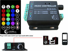CONTROLLER RGB SENSORE AUDIO AUX 3.5mm CENTRALINA RGB CHANGE COLOUR BY MUSIC