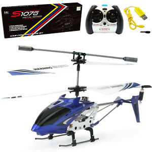 Syma S107G RC Helicopter 3.5CH Remote Control Helicopter w Gyro Kids Gift Blue