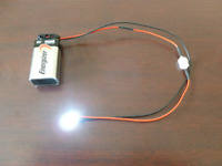 Prewired LED Light Assembly with on/off switch and 9 volt battery connector.