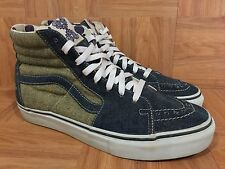 RARE🔥 VANS SK8-Hi Loomstate Washed Denim 9 Men's Fashion Sneakers Nature Calls