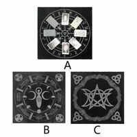 49x49cm Tarot Tablecloth Triple Moon Pentagram Pagan Altar Tarot Cloth Flannel Q