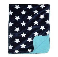 Garanimals Blue White Stars Aqua Sherpa Velour Baby Blanket Plush Lovey
