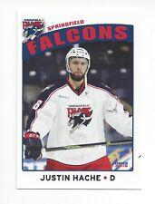 2015-16 Springfield Falcons (AHL) Justin Hache (Coventry Blaze)