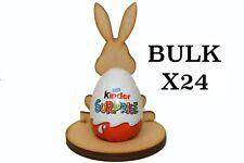 Wooden MDF Easter Rabbit Craft Kinder Egg Holder Stand Easter Gift BULK x24