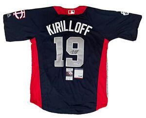 Alex Kirilloff SIGNED #19 Team USA 2019 Futures Game size XL jersey w/ PSA COA