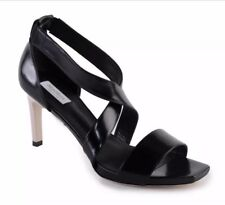 Max Mara Women's Shoes Black Leather Strappy Heels Pumps Size 9 (39) $525 NEW
