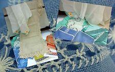 Quantity Vintage Tablecloth Tray Tea Cloth Place Mats Table Linen Woven Job Lot