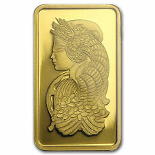 GÖTTIN FORTUNA - 999 GOLD - PAMP SUISSE SCHWEIZ - GOLDBARREN - WIE GOLDMÜNZE