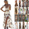 Womens Maxi Boho Floral Summer Beach Long Skirts Evening Cocktail Party Dress