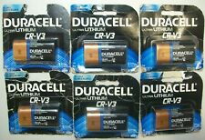 Lot of 6 Duracell Ultra Lithium CR-V3 Expires: March 2024