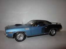 HIGHWAY/61 DCP 1:18 SCALE 1971 PLYMOUTH HEMI CUDA R/T BLUE/BLACK SUPER RARE!