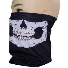 Simple Skull Bandana Skeleton Motorcycle Paintball Scarf Pretend Half Face Mask
