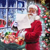 DIY 5D Full Drill Diamond Painting Embroidery Cross Stitch Kits Santa Claus Art