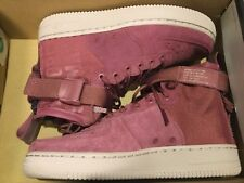 c03778aa906d47 New Nike Womens SF Air Force 1 Mid FIF Shoes Vintage Wine AJ1698-600 Sz
