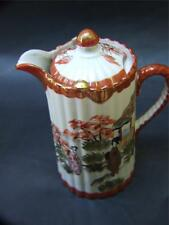 ANTIQUE JAPANESE KUTANI GEISHA CHOCOLATE/COFFEE POT SIGN C.1900's