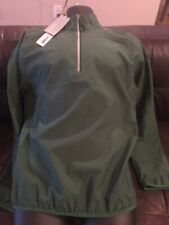 Cutter & Buck Weatertec Men's 1/4 Zip LS Windbreaker Pullover Medium Green