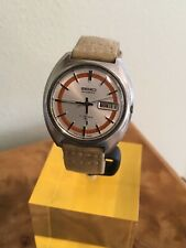 VINTAGE SEIKO 7006-7109 AUTOMATIC 17J STAINLESS MENS WRIST WATCH C.1972