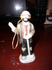 "Emmett Kelly Jr Golfer Flambro 4 1/2"" Clown Figure / Ornament"
