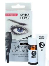 Swiss O' Par Long Lasting Eyelash and Brow Dye Kit (Black) 12 Applications