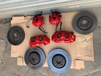 2017 AUDI S5 8W s4 b9 BRAKE CALIPERS RED FRONT REAR DISCS PADS SET UP UPGRADE S3