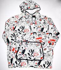 Adidas White Pullover Hoodie Skateboarding print sz. XL NWT New SUPER RARE