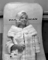 8x10 Print Diana Dors Candid Departing Pan American Airlines 1964 #2016798