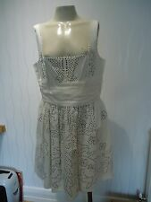 LADIES CREAM STUDDED SUN DRESS KATE MOSS TOPSHOP SIZE 14 UK NEW