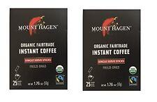Mount Hagen -REGULAR Organic Instant Coffee Freeze Dried 25 Single Serve Packets