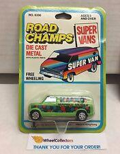 Ford Econoline Van * GREEN * Super Vans Road Champs Die Cast * E9