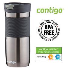 Contigo Travel Coffee Mug Stainless Steel Tea Thermos Insulated 16 oz Gunmetal