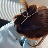 Women Cross Hair Claws Vintage Hair Clip Square Hollow Hair Crab Hairpins Snaps