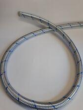 Porsche 356 Carrera Quad cam 15mm oil line period blue braided