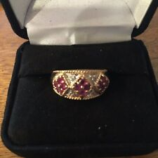 14K Gold Ring With Ruby & DIamonds