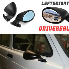 Universal 1 x Pair California Door Wing Side Mirror (Plane Mirror) Matte Black