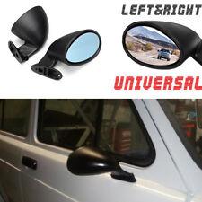 Universal 1 x Pair California Door Wing Side Mirror (Plane Mirror) Matte Black