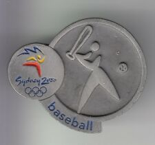 RARE PINS PIN'S .. OLYMPIQUE OLYMPIC JEUX 2000 SPORT BASEBALL SYDNEY ARGENT ~17