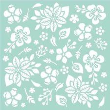 "Stamperia - Stencil - 7"" x 7"" - Flowers & Leaves"