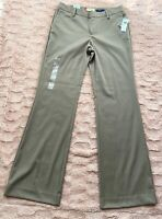 GAP Women's Dress Pants SZ 2R STRAIGHT FIT BROWN/TAN  Stretch Career Trouser NWT