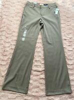 GAP Women's Dress Pants SZ 2R STRAIGHT FIT BROWN/TAN  Stretch Career Trouser NWT