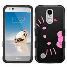 For LG Aristo LV3 Hard Impact Armor Hybrid Case Hello Kitty #BP
