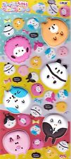 Cute Kawaii Japanese Puffy MochiMochi Animal Stickers Diary Planner Craft Japan