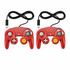 2 X Red Shock Game Controller Pad for Nintendo Gamecube GC Wii NEW USA