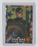 Captain America Civil War Blue Insert Card Chris Evans  /  Captain America #49