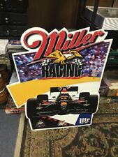 MILLER BEER RACING INDY CAR TIN ADVERTISING SIGN F1 1995