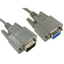 3m 9 Pin Serial RS232 Com Male to Female Extension Cable Lead 232 Plug - Socket