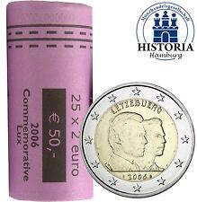 25 Luxemburg 2 Euro Münzen Henri & Guillaume 2006 Gedenkmünzen in Rolle