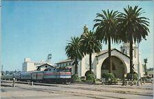 Vintage chrome postcard, AMTRAK's San Diegan, morning train from Los Angeles