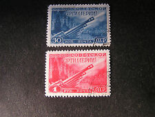 *RUSSIA, SCOTT # 1302/1303(2), COMPLETE SET 1948 ARTILLARY DAY ISSUE USED