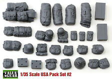 1/35 USA WWII Pack Set #2 - Value Gear Resin Stowage- 25 Pieces